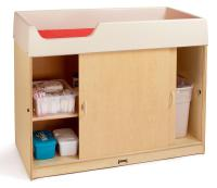 Birch Wood Changing Table | Lockable Doors