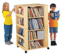 Kids Book Organizer | Caster Mounted