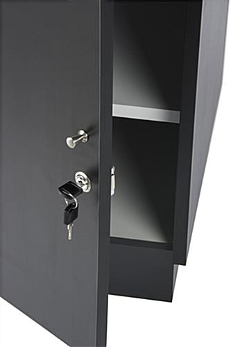 Locking Jewelry Display Case  Two Enclosed Storage Cabinets