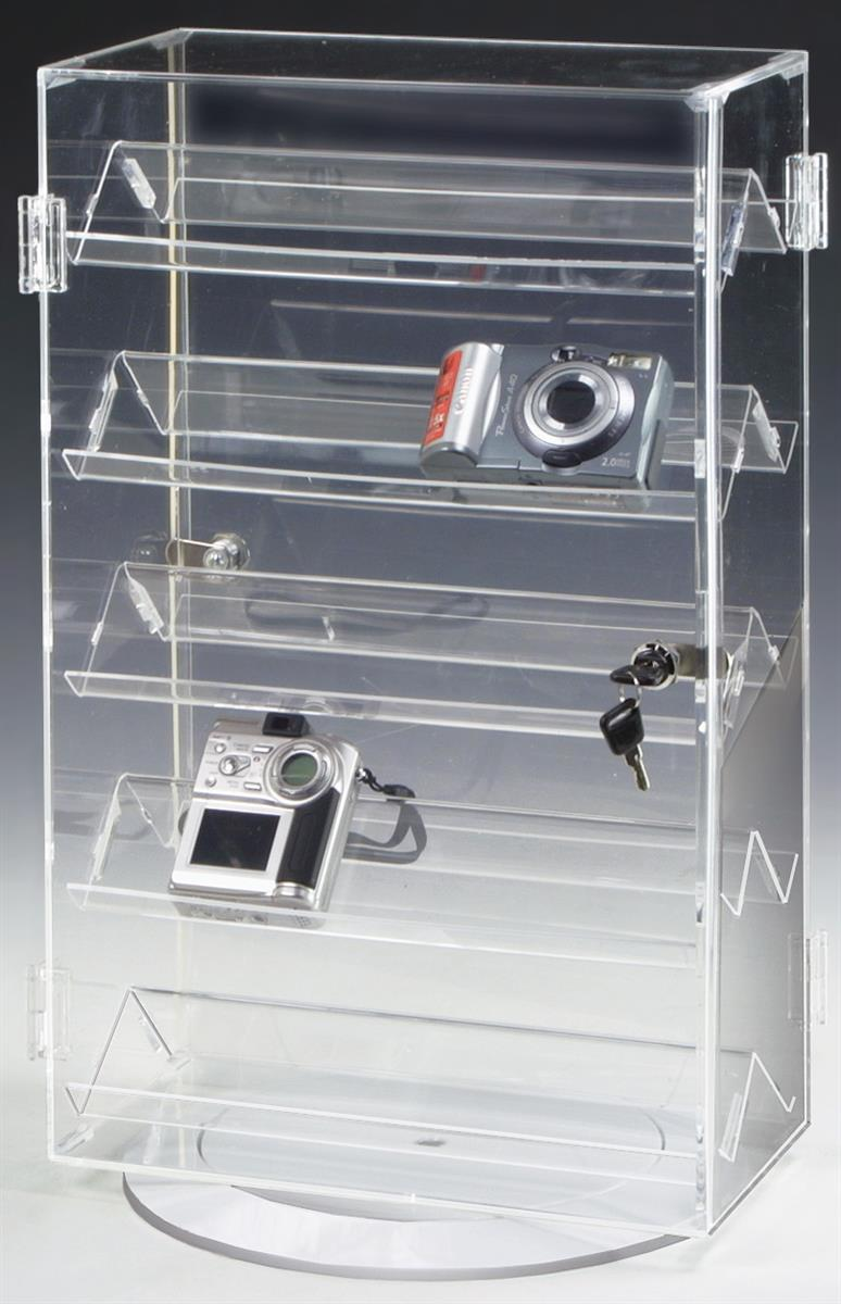 Rotating Countertop Display Case  Rotating Base 5 Shelves