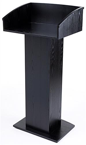 Black Wooden Lectern Stand  Podium for Floor w Pedastal