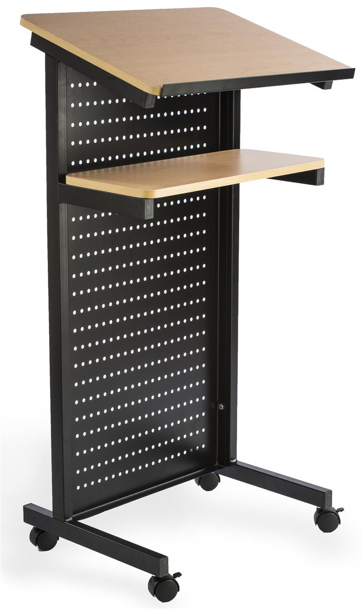 Mobile Presentation Stand  Maple Laminated Surface
