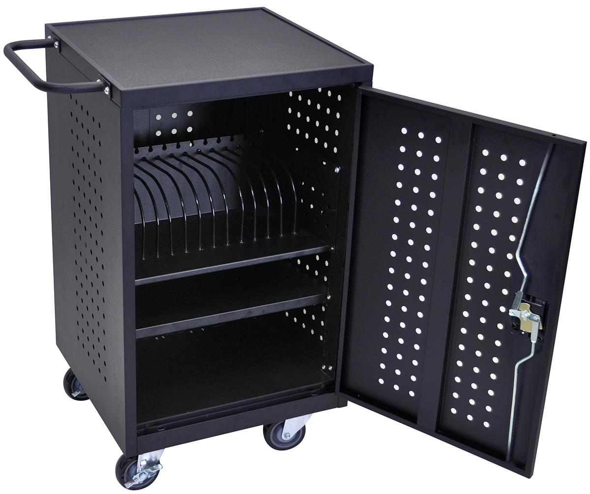 iPad Charging Cabinet  Locking Cart with 16 Outlets