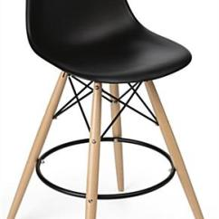 Black Plastic Chair With Wooden Legs Overstock Com Dining Room Chairs Molded Bar Stool Wood Frame Metal Footrest