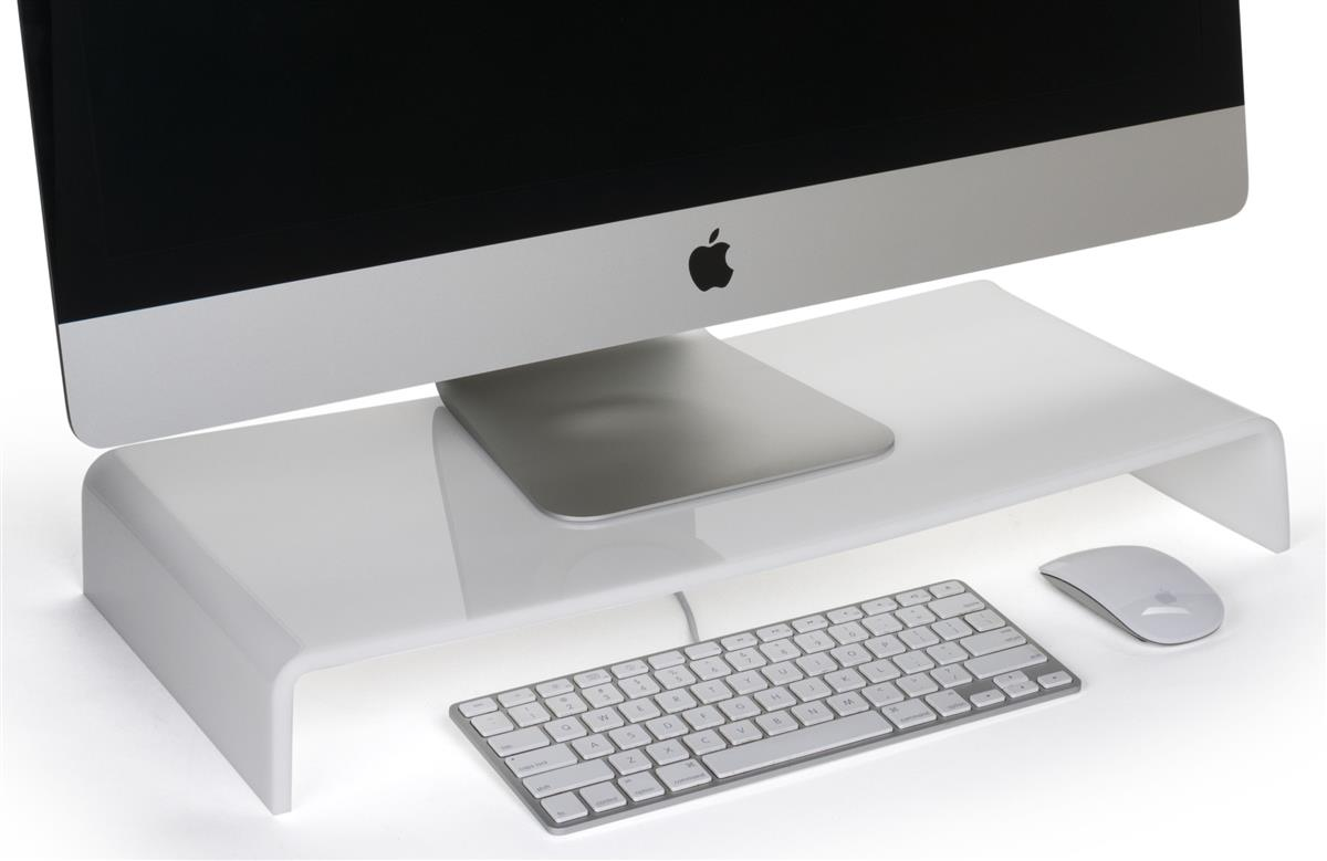Acrylic Monitor Riser  Keyboard Storage Space