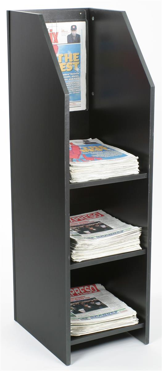Wood Newspaper Rack is perfect for previewing the headlines