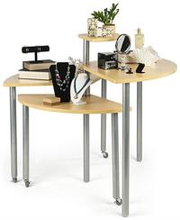 Maple Rotating Retail Display Tables | Nesting Counters