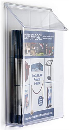 Outdoor Literature Box  Exterior Flyer Display with