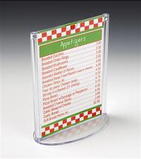 Restaurant Menu Holder | Oval Base Stand for Tabletops