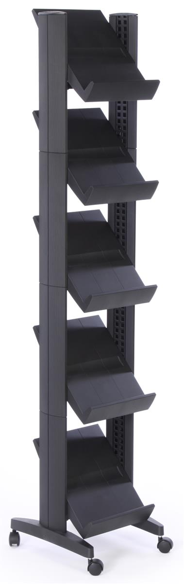 Free Standing Magazine Rack is Portable  Quick to Assemble