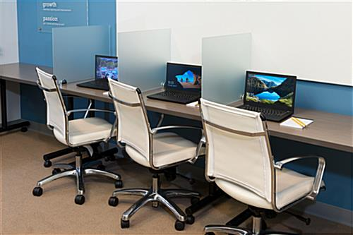 Desk Mounted Privacy Panel  18 x 24 Office Modesty Screen
