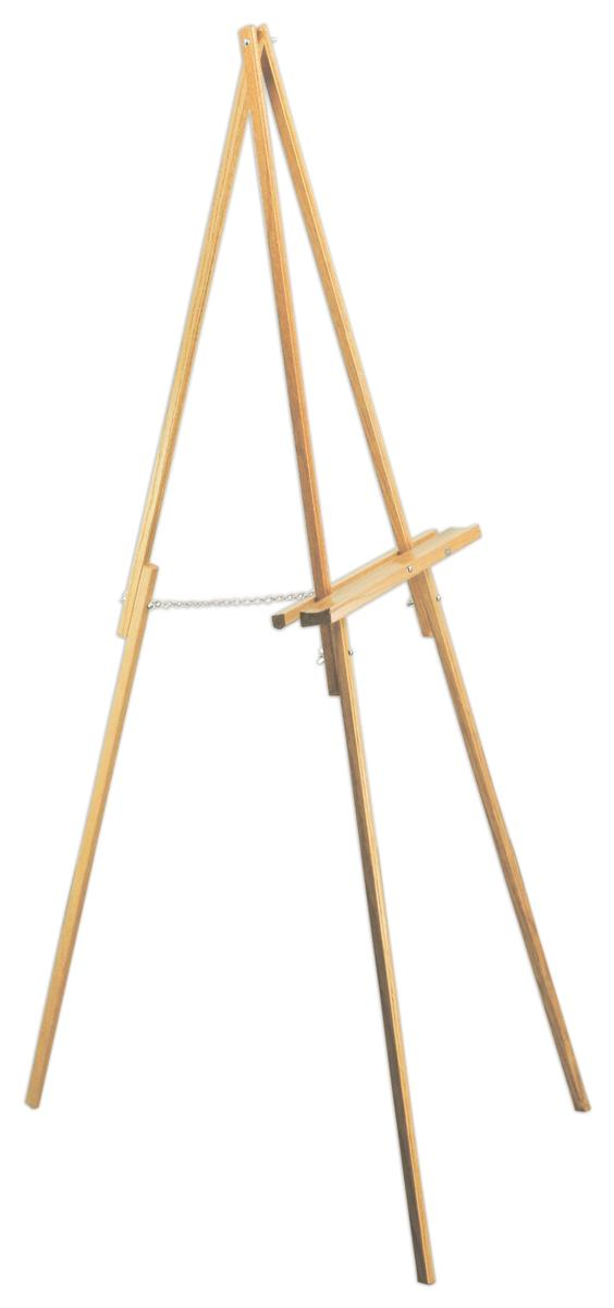 Artist Easel Features Natural Oak Finish 64 Tall With