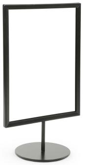 Black 8.5 x 11 Tabletop Sign Stand for Retail Posters