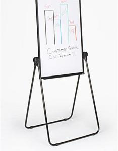 Adjustable easel also display with markerboard  flip chart rh displays go