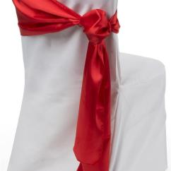 Best Fabric For Chair Seats Jonathan Adler Chairs Red Satin Sashes | 12 X 108 Wedding Decor