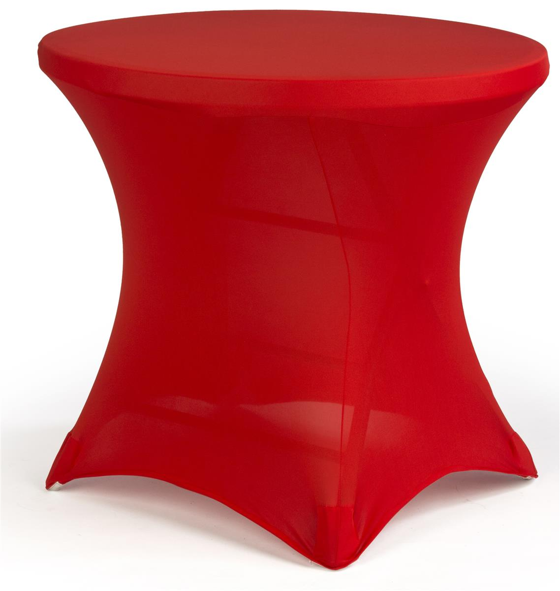 Cocktail Spandex Table Cover  Red Stretch Fabric