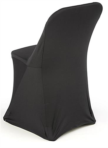 folding chair leg covers stretch black cover seat slipcover with pockets for legs