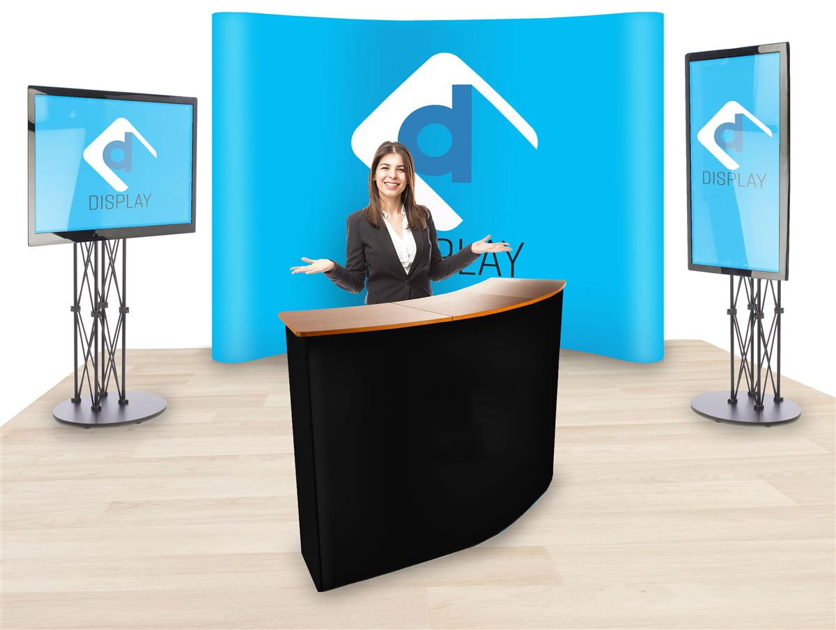 trade show booth with