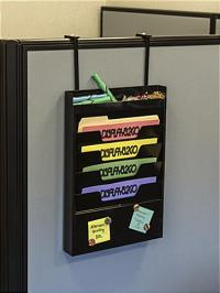 Cubicle Hanging File Organizer | Top Tier Supplies Compartment