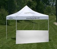 Half Sidewall | White, Unprinted for 10' x 10' Tent