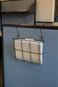 Cubicle Wall Organizer | Fits 8.5w x 11 File Folders