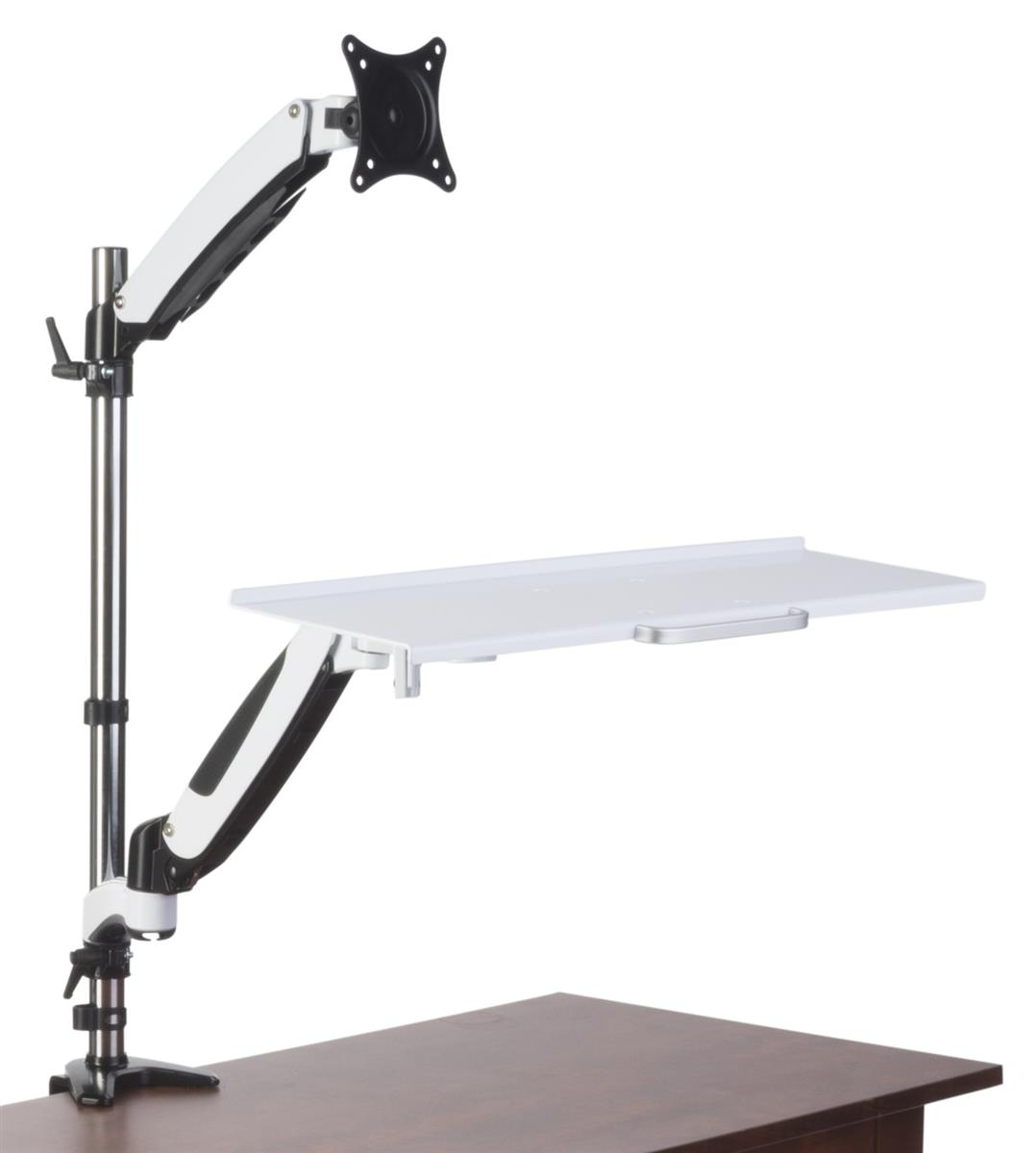 chair mount keyboard tray canada lounge chairs pool monitor desk stand tilting swiveling and rotating