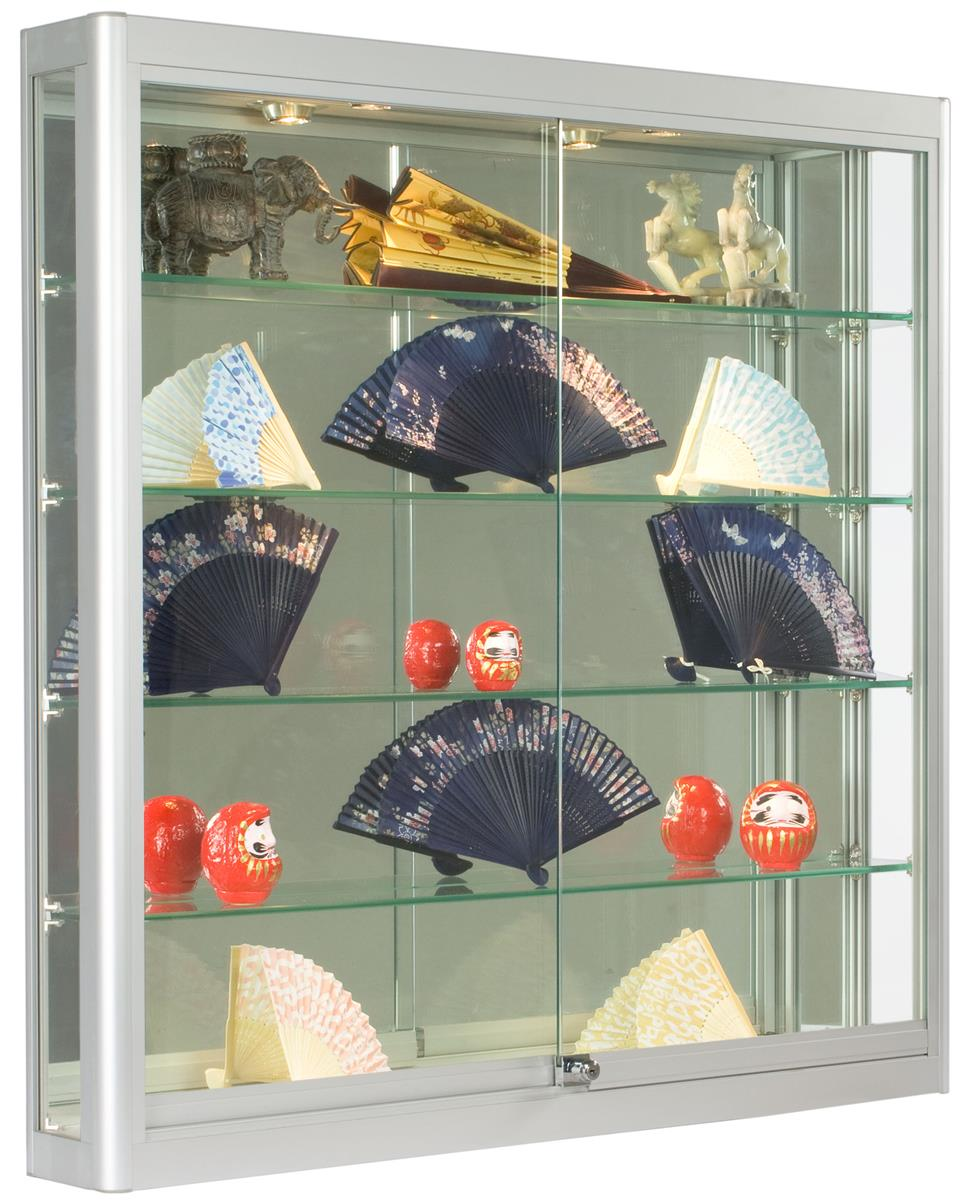Wall Cases  Square Silver Display  6 Deep