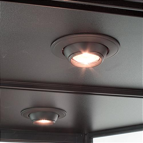 LED Wall Showcase Cabinet  Adjustable Ceiling Lights