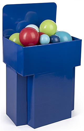Dump Bin  Blue Corrugated Cardboard Display