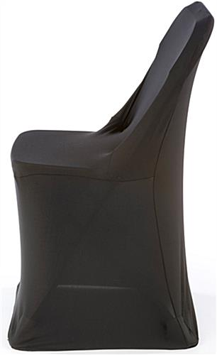 White Plastic Chair with Black Stretch Cover  Machine