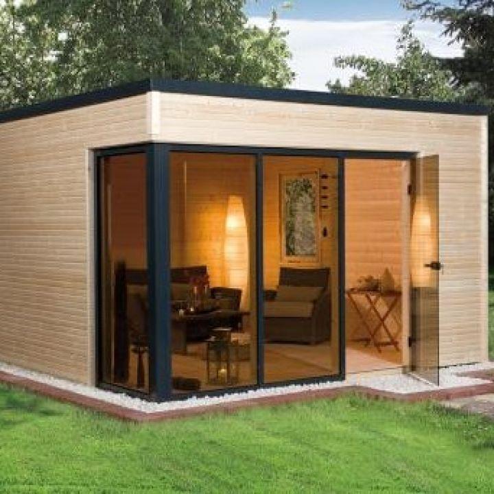 abri de jardin en bois cubilis design taille 1 et 2