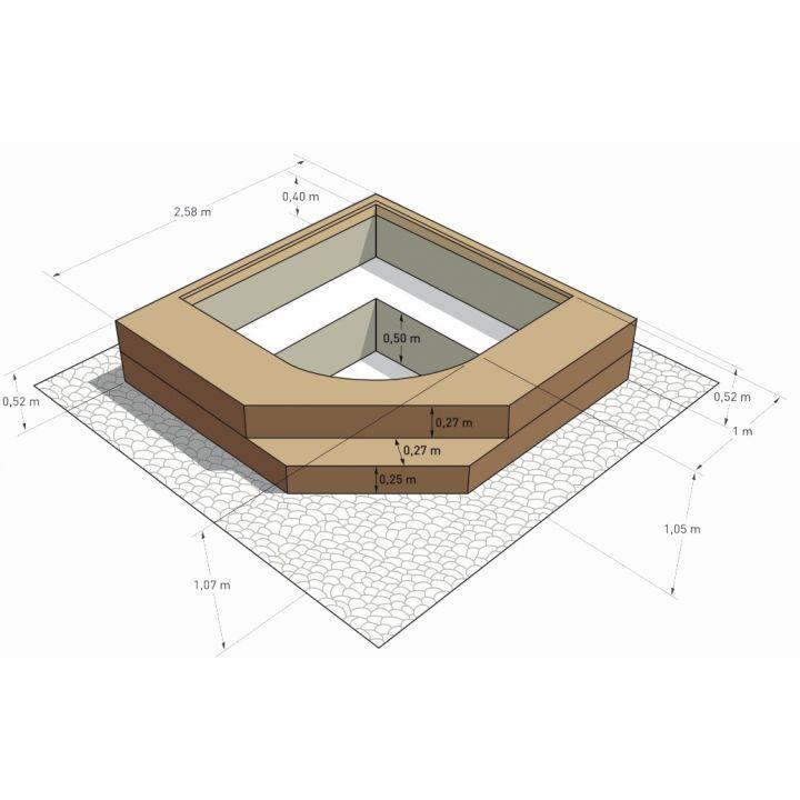 spa en kit beton carre palermo 2 58 x 2