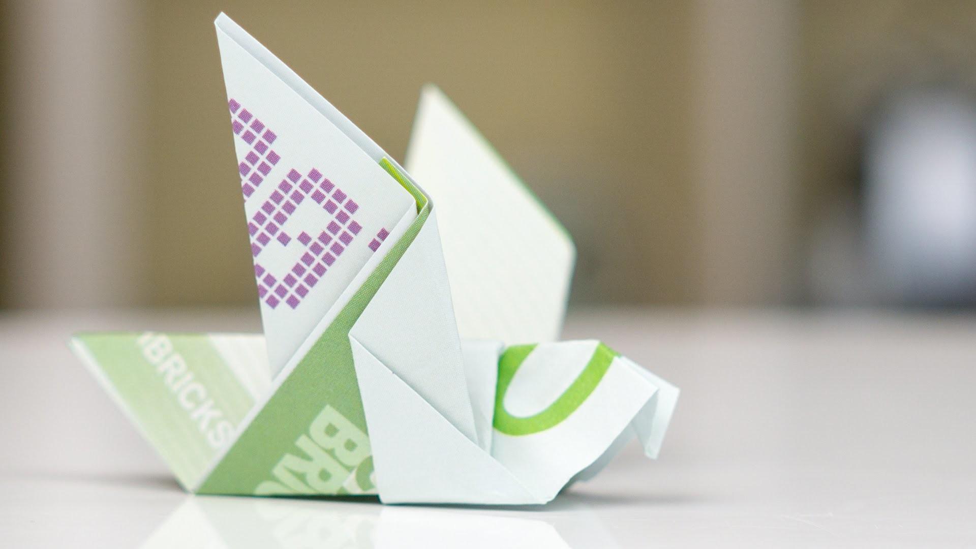 Geldscheine Falten Hochzeit Taube Papier Stempel And Co