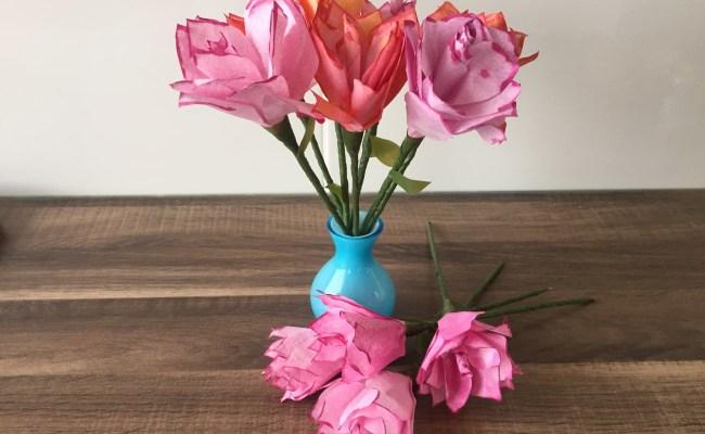 Diy Rose Basteln Für Muttertag Valentinstag Blumen Als