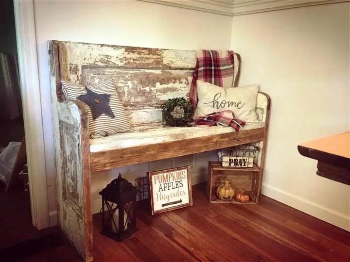 Change An Old Door Into Bench Diy Amp Crafts