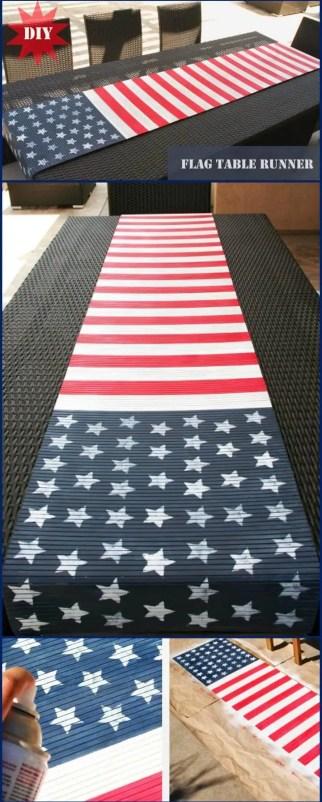 DIY American Flag Table Runner