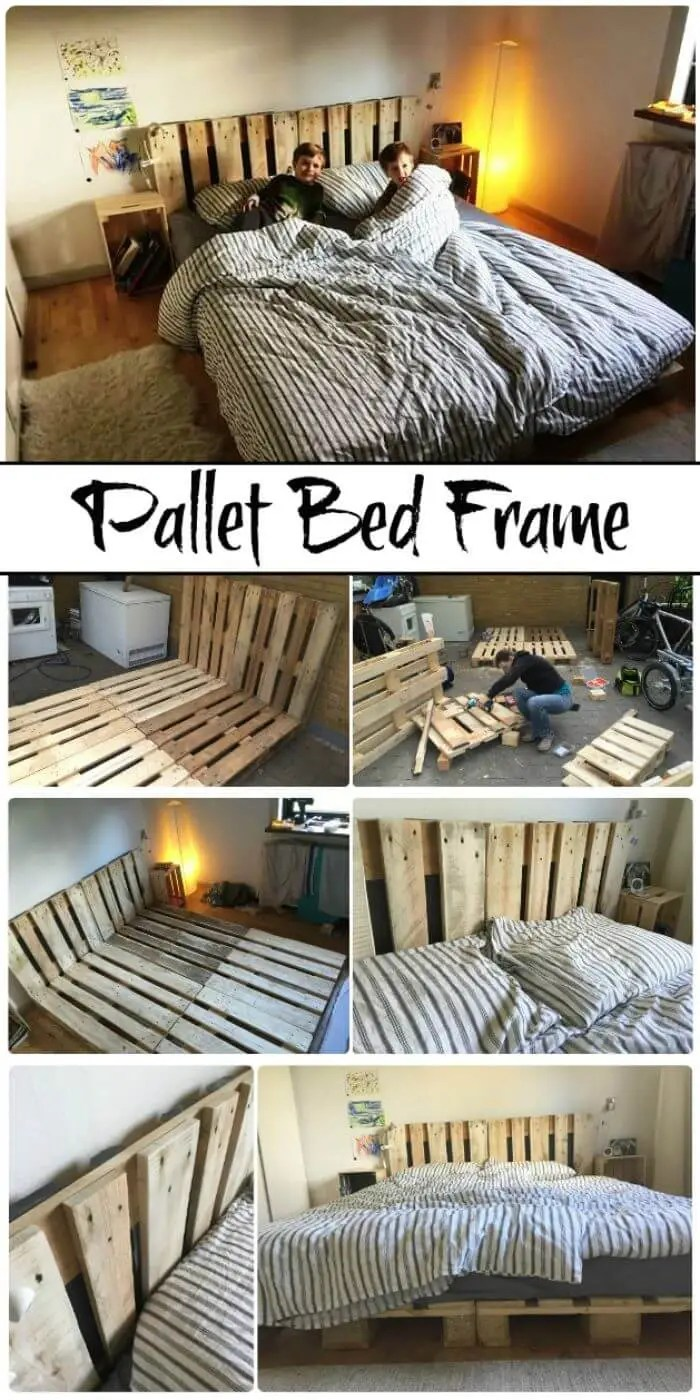11 Diy Pallet Bed Frame Ideas With Step By Step Plans