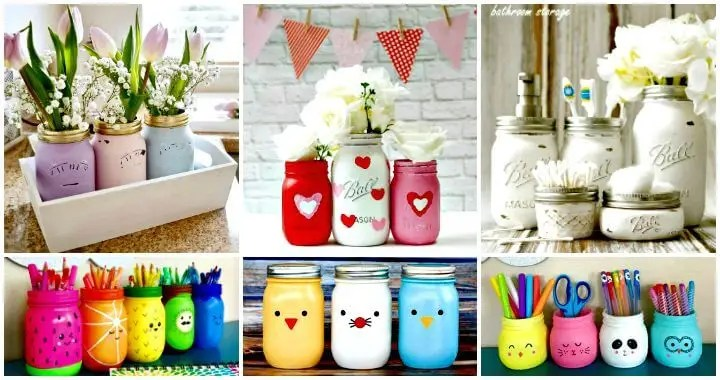 130 Easy Craft Ideas Using Mason Jars For Spring Summer Diy Crafts