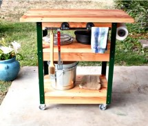 Diy Outdoor Serving Stations Table Cart Bar