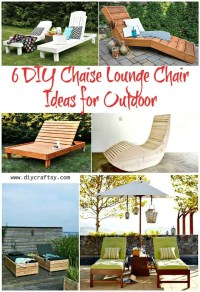 6 DIY Chaise Lounge Chair Ideas for Outdoor - DIY & Crafts