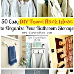 50 Diy Towel Rack Ideas To Save Money Diy At Home
