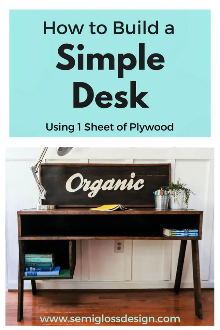 Make a Desk from a Sheet of Plywood