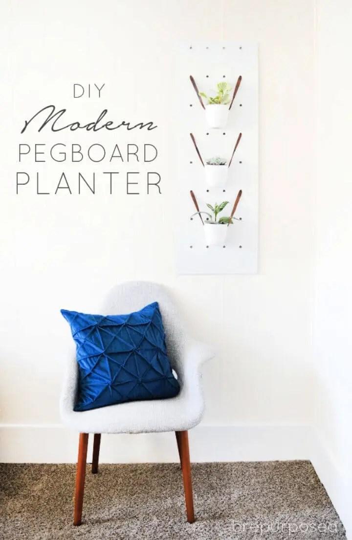 Modern DIY One Sheet Plywood Pegboard Planter