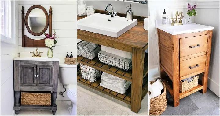 26 Free Plans To Build A Diy Bathroom Vanity From Scratch Diy Crafts