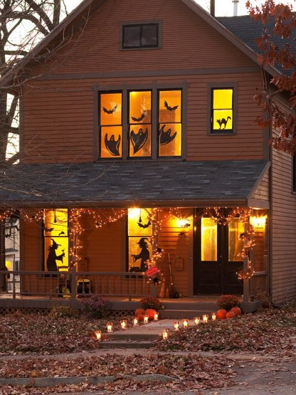 Window Silhouettes - 40 Easy to Make DIY Halloween Decor Ideas