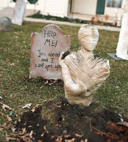 Eerie Mummy Graveyard - 40 Easy to Make DIY Halloween Decor Ideas