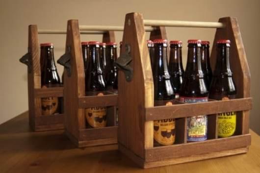Wooden Beer Tote