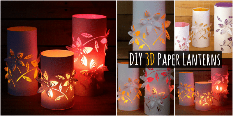 Creative Diy Make Your Own Colorful 3d Paper Lanterns
