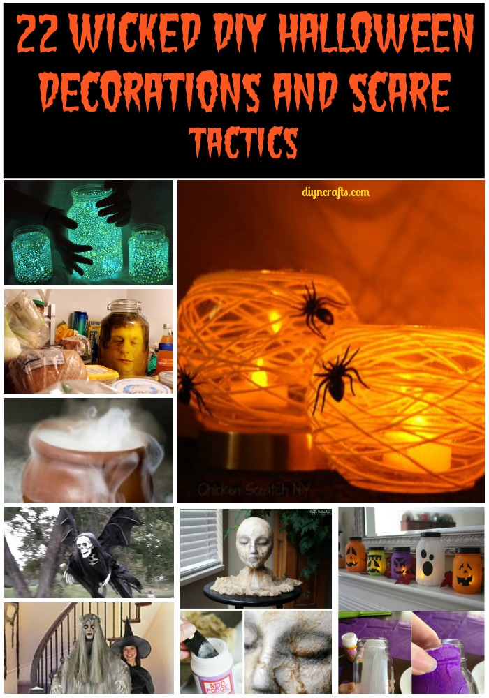 22 Wicked Diy Halloween Decorations And Scare Tactics Diy Crafts