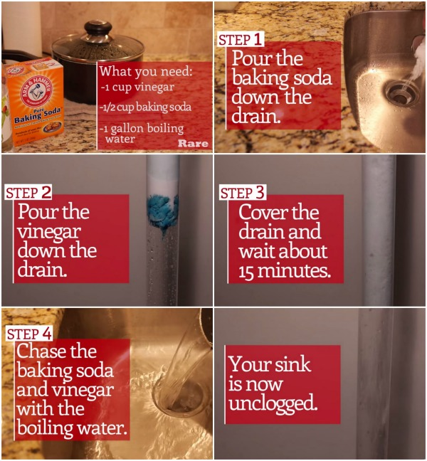 how to unclog your drain with 2 common
